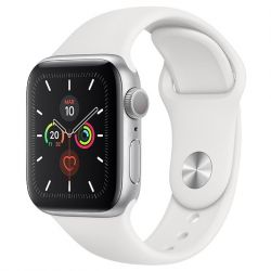 apple watch serie 5 gps 40mm silver aluminium case/white sport band eu