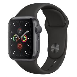 apple watch series 5 gps 40mm space grey aluminium case/black sport band eu
