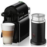 macchina da caffè nespresso inissia en80.bac nero + aeroccino